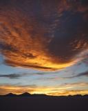Sunset sky from Pescado Island (vertical)
