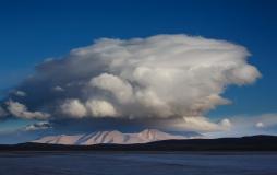 Cumulus over Andean hills