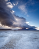 Backlit cumulus over the Salar