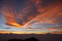 Sunset sky from Pescado Island