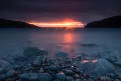Sunset boulders (long exposure)