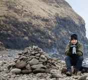 Mike at Talisker bay on Skye (photo by Carolyn Bell)