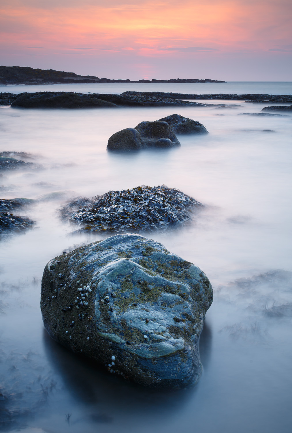 Cove Bay rocks at sunset