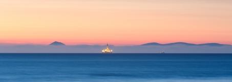 Cromarty Firth oilrig from Hopeman