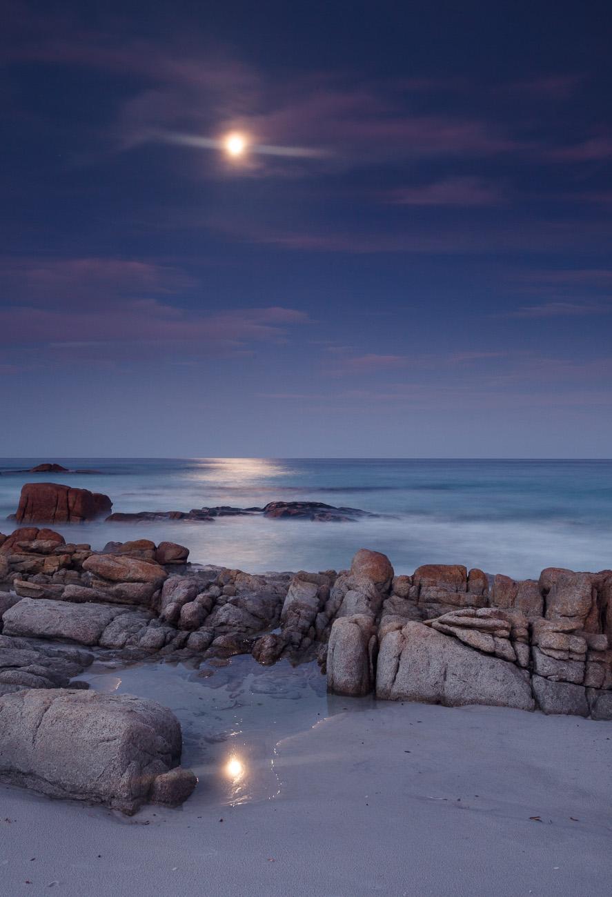 Moonlight on Friendly Beaches, Freycinet