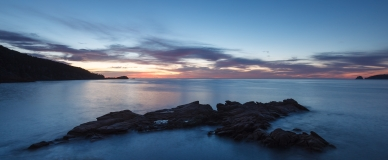 Waiting for dawn at Sleepy Bay, Freycinet