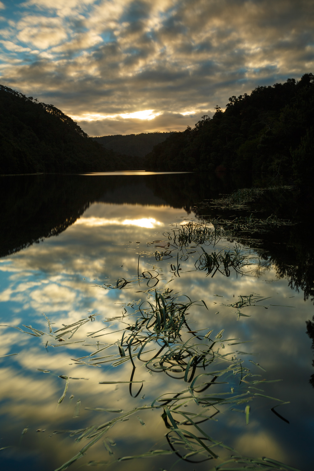 Sunset along the Pieman River at Corinna
