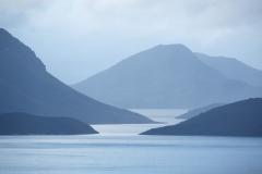 Detail, Lake Pedder from Scott's Peak