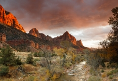 Virgin River at sunset
