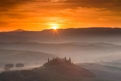 Belvidere dawn - moment of sunrise