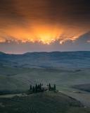 Belvidere dawn sunburst