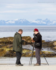Dimitri and I discussing NiSi filters on Vinje beach.